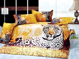 3D Special Leopard Animal Print Bedding Sets