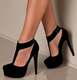 Round Toe T-Strap Prom Shoes