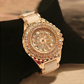 Fashion Elegant Rhinestone Ceramics Watches For Women