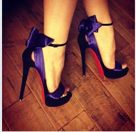 Fashion Purple Sexy Bowknot High Heel Prom Shoes