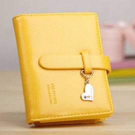 Sweet Pure Color Heart Short Purses