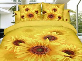 Golden World Sunflowers 3D Bedding Sets