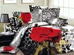 Romantic Leopard And Rose 3D Bedding Sets