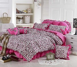 Rose Leopard Sexy Pandora Princess 4PC Bedding Sets