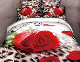 Love Your Life Rose Queen/King Size Bedding Sets
