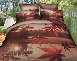 The Feelings Of Maple Leaf The Most Popular 3D Bedding Sets