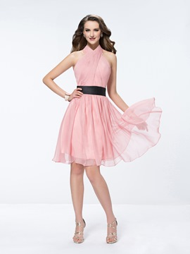 Ericdress Charming Halter A Line Short Bridesmaid Dress