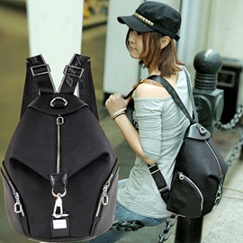 Leisure Pure Color Fashion Backpacks