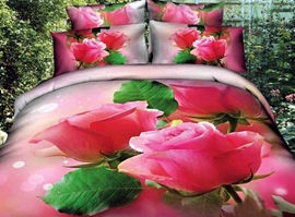 Romantic Blossoming Roses 3D Bedding Sets
