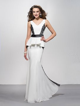 Ericdress Sexy Trumpet/Mermaid Peplum V-Neck Evening Dress