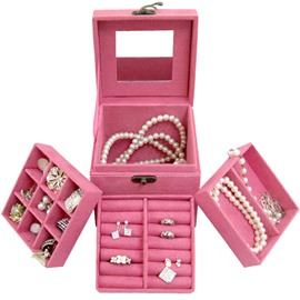 Sweet Fashion Pure Color Princess Style Jewelry Boxes