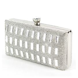 Courtlike Rectangle&Rectangle Rhinestone Wedding Handbag