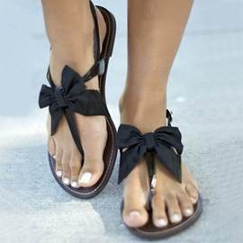 New Arrival Satin Bowknot Flat Sandals