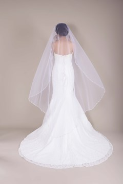 Waltz Tull Wedding Bridal Veil with Pearls