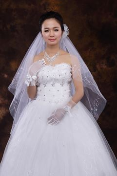 2-Layer ElbowWedding Veils With Beading Edge