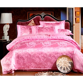 Ericdress Luxury Pink Print Pure Cotton 4-Piece Bedding Sets