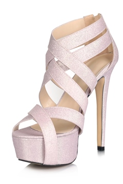 Sexy Cross Strap Sandals With Zipper