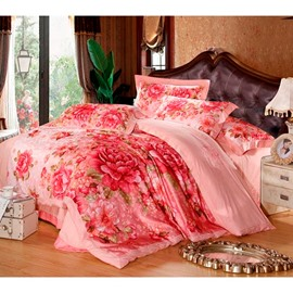 Ericdress Warm Color Pirnt Pure Color 4-Piece Bedding Sets