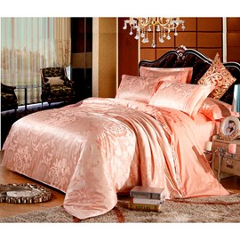 Ericdress Luxury Solid Color Jacquard Cotton 4-Piece Bedding Sets