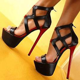 Good-Looking Hollow-Outs PU Platform Sandals