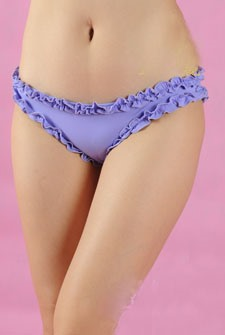 Awesome Purple Flower Lace Elastic Sexy Thongs
