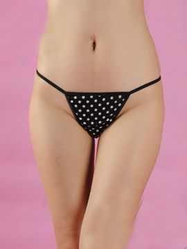 Simple Polka Dot Women Panties Thongs