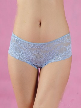 Sheer Lace-up Lace Panties Thongs