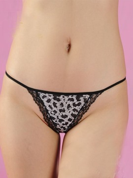 Unique Print Laciness Women Panties Thongs