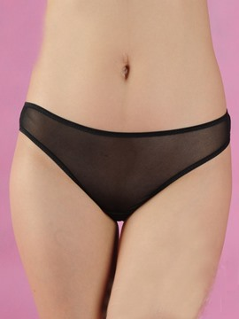able Solid Color Bowknot Panties Thongs