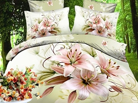 Top-selling Flower Print 4 Piece Duvet Cover Sets