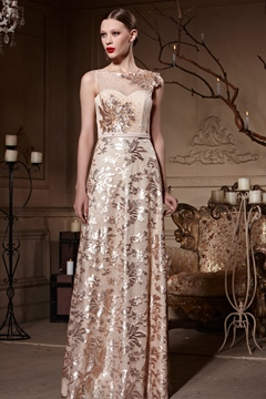 Gorgeous A-Line Jewel Sequins Sleeveless Charming Evening Dress