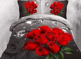 LuxuriousThe Premier Rose Diamond 3D Bedding Sets