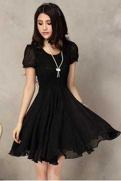 Ericdress Chiffon Lace Dress