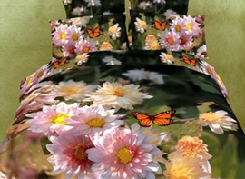 Charming Flowers and Butterflies 3D Bedding Sets