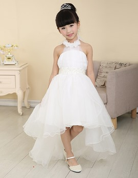Ericdress Sweet Halter Asymmetry Flower Girl Dress