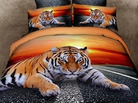 High-quality Fierce Tiger Animal Print Bedding Sets