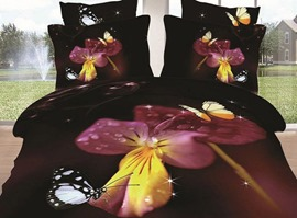 Wonderful Dancing Butterfly&Flower 3D Bedding Sets