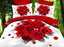 Attractive Everlasting Roses 3D Bedding Sets
