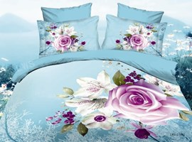 Fresh Chic Roses 3D Bedding Sets