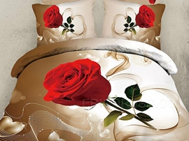 Dancing Musical Notes&Roses 3D Bedding Sets