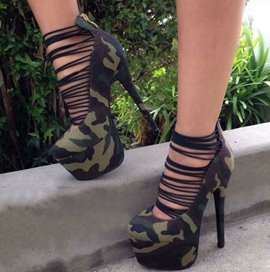 Great Camouflage Hollow-Outs Sandals