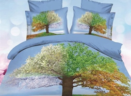 Arborous Multi-Color Tree 3D Bedding Sets