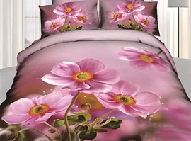 Pink Petal Blossoming 3D Bedding Sets