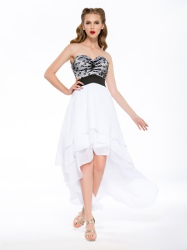Sexy A-line Asymmetry Sweetheart Empire Homecoming Dress
