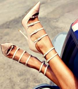 Fashion Hollow-outs Pointed-toe Stiletto Sandals