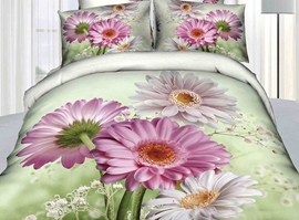 Bright Spring Blossoming 4-Piece Cotton Bedding Sets