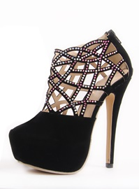 Brilliant Hollow-Out Rhinestone Stiletto Heel Prom Shoes