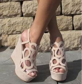 Popular Hollow-outs Peep-toe Wedge Sandals