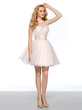 Sweet A-Line Short Center Back Zipper Short Homecoming Dress