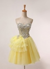 Modern Sweetheart Short/Mini Beaded Homecoming/Sweet 16 Dress